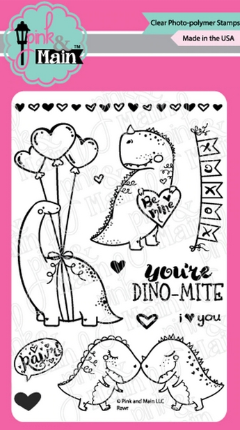 Pink and Main RAWR Clear Stamps PM0437 zoom image