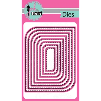 Pink and Main MOD STITCHED RECTANGLE Dies PNM319