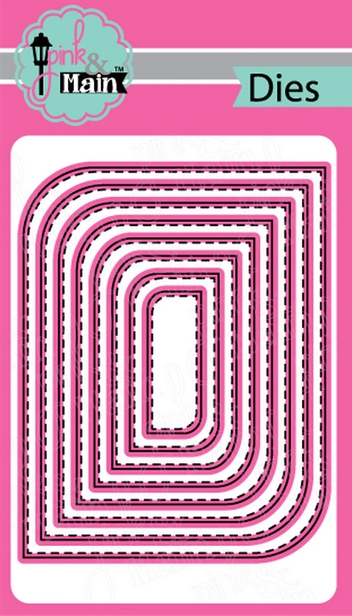 Pink and Main MOD STITCHED RECTANGLE Dies PNM319 zoom image