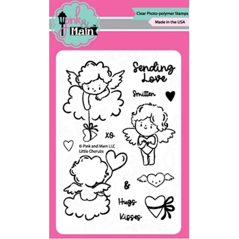 Pink and Main LITTLE CHERUBS Clear Stamps PM0441*