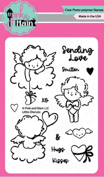 Pink and Main LITTLE CHERUBS Clear Stamps PM0441 zoom image