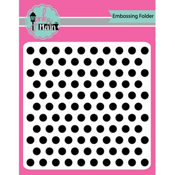 Pink and Main LET'S POLKA 6x6 inch Embossing Folder PMT005
