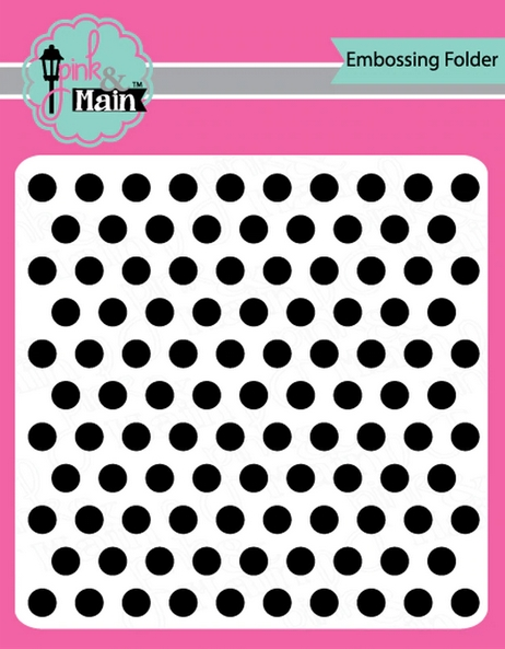 Pink and Main LET'S POLKA 6x6 inch Embossing Folder PMT005 zoom image