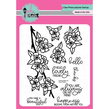 Pink and Main CHERRY BLOSSOM Clear Stamps PM0438