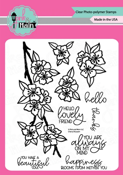 Pink and Main CHERRY BLOSSOM Clear Stamps PM0438 zoom image
