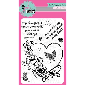 Pink and Main ALWAYS Clear Stamps PM0442*