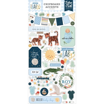 Echo Park WELCOME BABY BOY Chipboard Accents wbb234021*