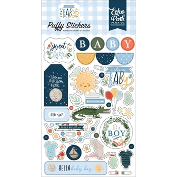 Echo Park WELCOME BABY BOY Puffy Stickers wbb234066