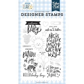 Echo Park WELCOME BABY Clear Stamps wbb234045