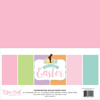 Echo Park WELCOME EASTER 12 x 12 Solids Paper Pack wee236015