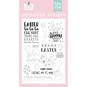 Echo Park BUNNY KISSES Clear Stamps wee236042
