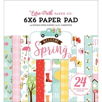 Echo Park WELCOME SPRING 6 x 6 Paper Pad wes235023