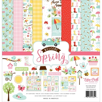 Echo Park WELCOME SPRING 12 x 12 Collection Kit wes235016