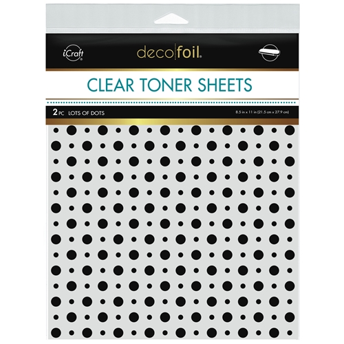 Therm O Web Deco Foil LOTS OF DOTS Clear Toner Sheets 8.5 x 11 Inches 5572 Preview Image