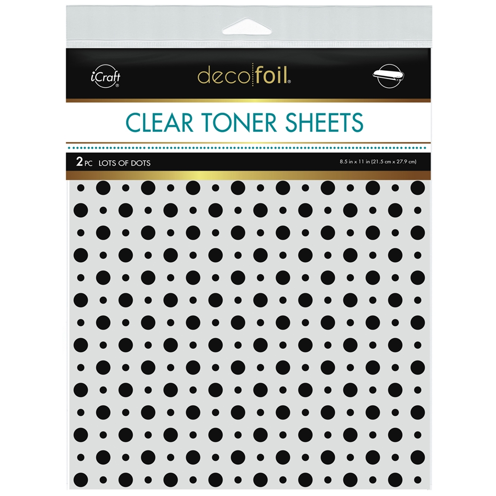 Therm O Web Deco Foil LOTS OF DOTS Clear Toner Sheets 8.5 x 11 Inches 5572 zoom image