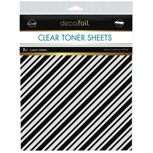 Therm O Web Deco Foil CANDY STRIPES Clear Toner Sheets 8.5 x 11 Inches 5582 Preview Image