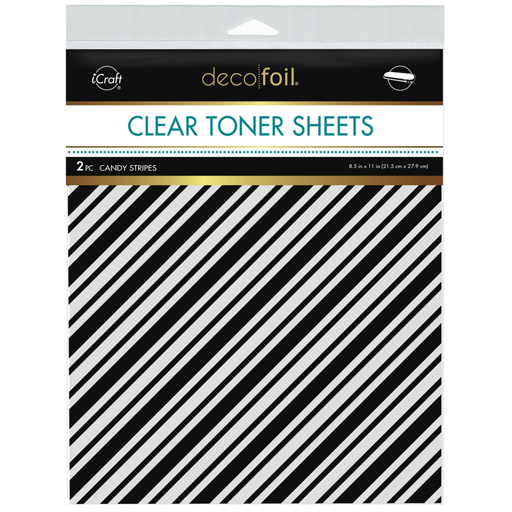 Therm O Web Deco Foil CANDY STRIPES Clear Toner Sheets 8.5 x 11 Inches 5582 zoom image
