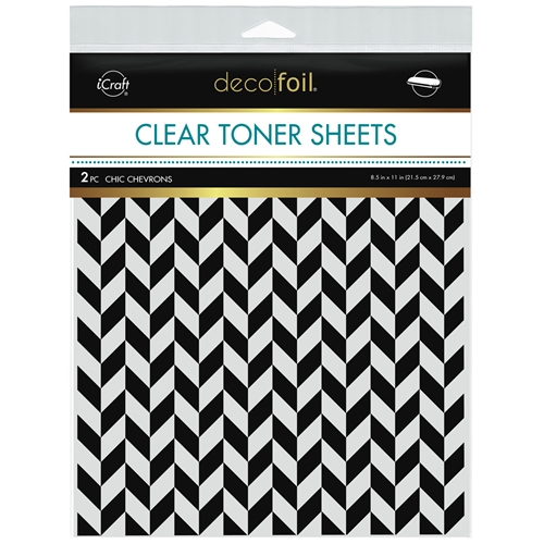 Therm O Web Deco Foil CHIC CHEVRONS Clear Toner Sheets 8.5 x 11 Inches 5587 Preview Image
