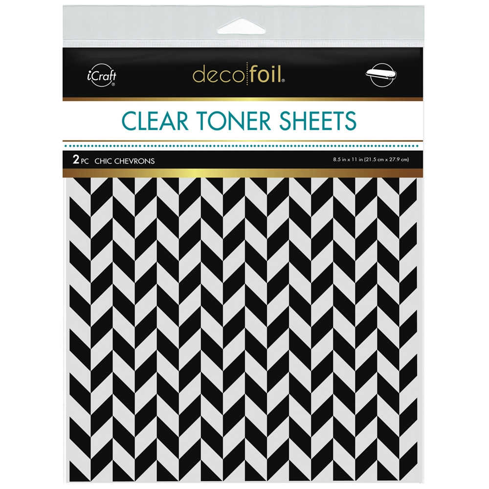 Therm O Web Deco Foil CHIC CHEVRONS Clear Toner Sheets 8.5 x 11 Inches 5587 zoom image