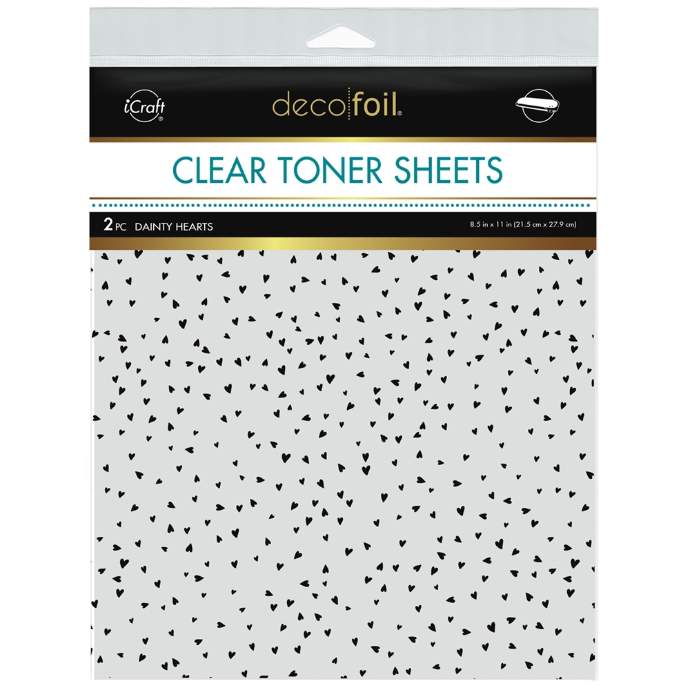 Therm O Web Deco Foil DAINTY HEARTS Clear Toner Sheets 8.5 x 11 Inches 5592 zoom image