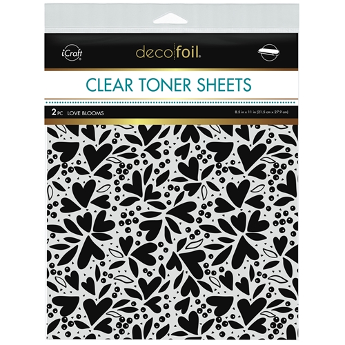 Therm O Web Deco Foil LOVE BLOOMS Clear Toner Sheets 8.5 x 11 Inches 5597 Preview Image