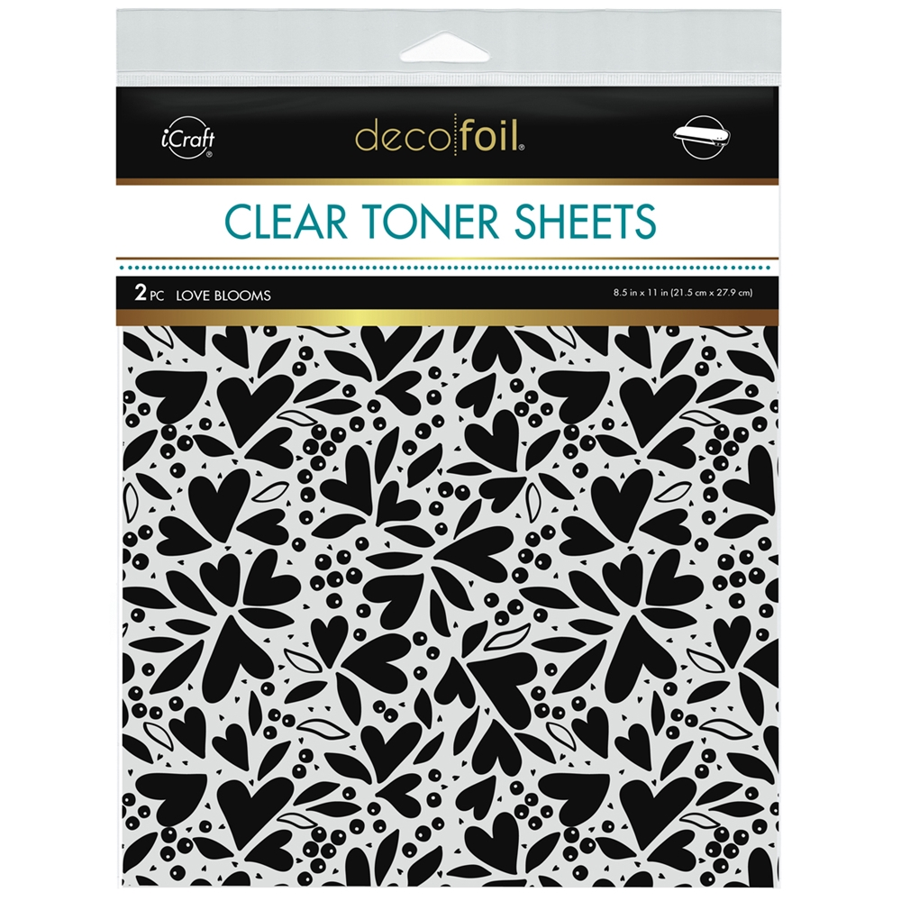 Therm O Web Deco Foil LOVE BLOOMS Clear Toner Sheets 8.5 x 11 Inches 5597 zoom image