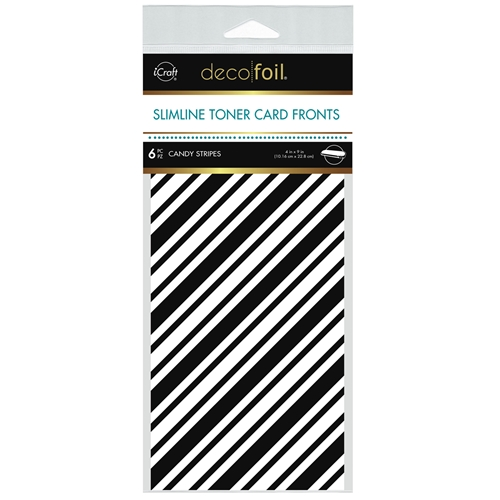 Therm O Web Deco Foil WHITE CANDY STRIPES Slimline Toner Sheets 4 x 9 Inches 5580 Preview Image