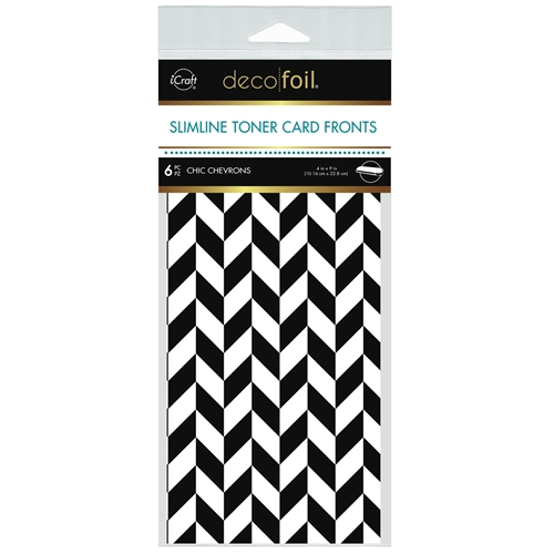 Therm O Web Deco Foil WHITE CHIC CHEVRONS Slimline Toner Sheets 4 x 9 Inches 5585 Preview Image
