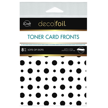 Therm O Web Deco Foil WHITE LOTS OF DOTS Toner Card Fronts 5568