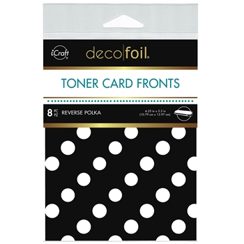 Therm O Web Deco Foil WHITE REVERSE POLKA Toner Card Fronts 5573