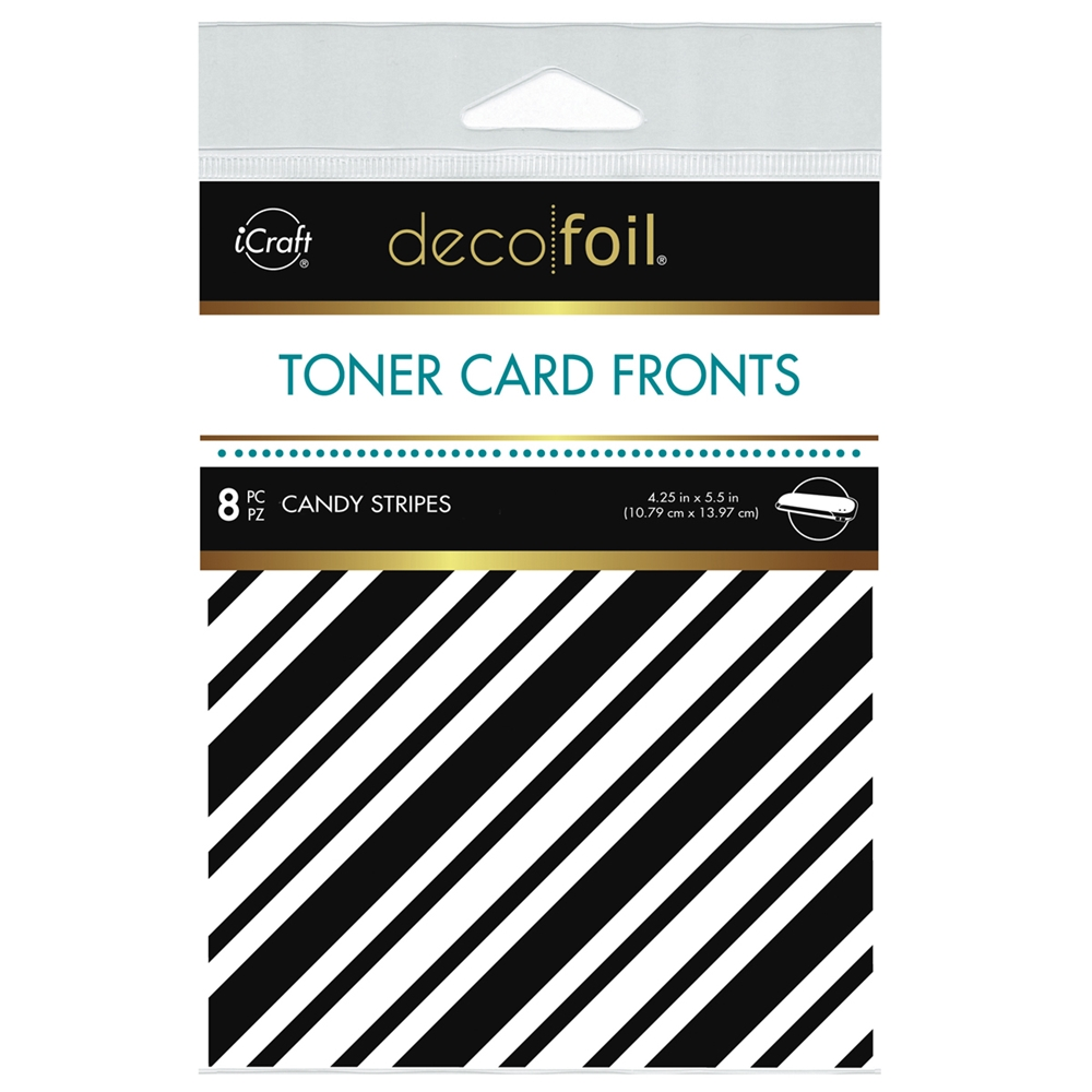 Therm O Web Deco Foil WHITE CANDY STRIPES Toner Card Fronts 5578 zoom image