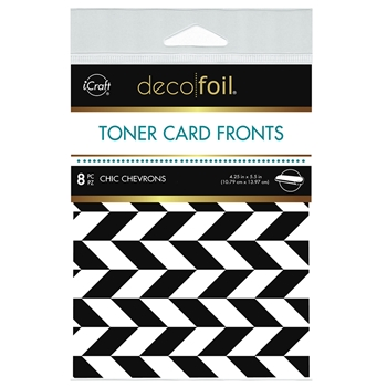 Therm O Web Deco Foil WHITE CHIC CHEVRONS Toner Card Fronts 5583
