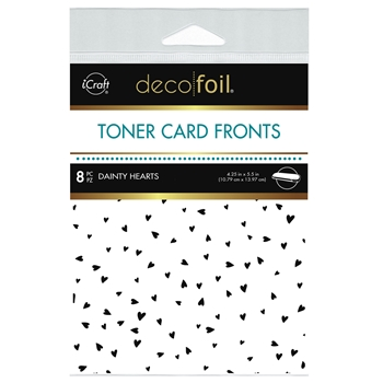 Therm O Web Deco Foil WHITE DAINTY HEARTS Toner Card Fronts 5588