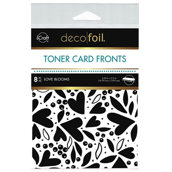 Therm O Web Deco Foil WHITE LOVE BLOOMS Toner Card Fronts 5593