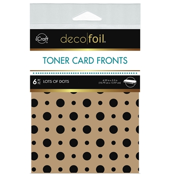 Therm O Web Deco Foil KRAFT LOTS OF DOTS Toner Card Fronts 5569