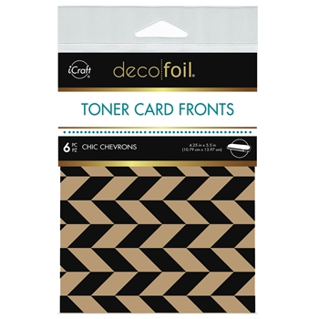 Therm O Web Deco Foil KRAFT CHIC CHEVRONS Toner Card Fronts 5584