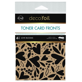 Therm O Web Deco Foil KRAFT LOVE BLOOMS Toner Card Fronts 5594