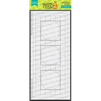 Newton's Nook Designs SLIMLINE MASKING CIRCLES AND SQUARES Stencils NN2101T02