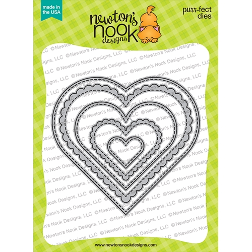 Newton's Nook Designs HEART FRAMES Dies NN2101D05 Preview Image