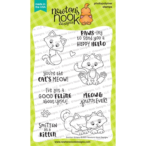 Newton's Nook Designs SMITTEN KITTEN Clear Stamps NN2101S04 Preview Image