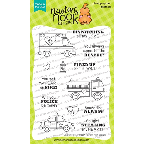 Newton's Nook Designs LOVE EMERGENCY Clear Stamps NN2101S03 Preview Image