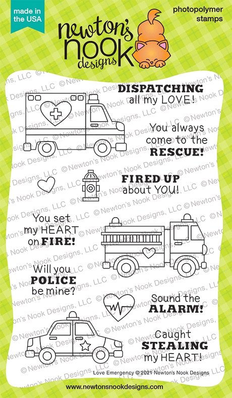 Newton's Nook Designs LOVE EMERGENCY Clear Stamps NN2101S03 zoom image
