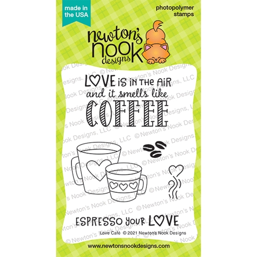 Newton's Nook Designs LOVE CAFE Clear Stamps NN2101S02 Preview Image