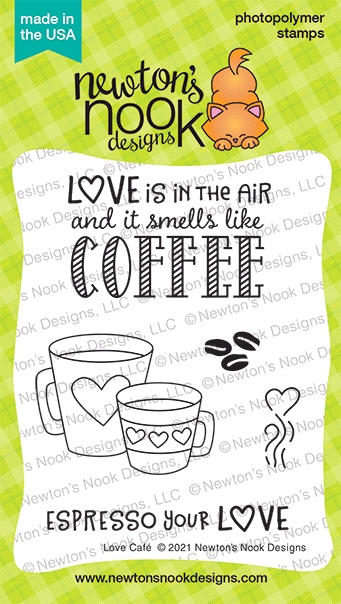 Newton's Nook Designs LOVE CAFE Clear Stamps NN2101S02 zoom image