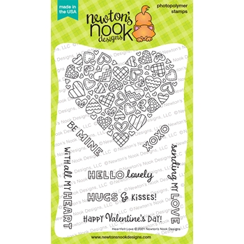Newton's Nook Designs HEARTFELT LOVE Clear Stamps NN2101S05