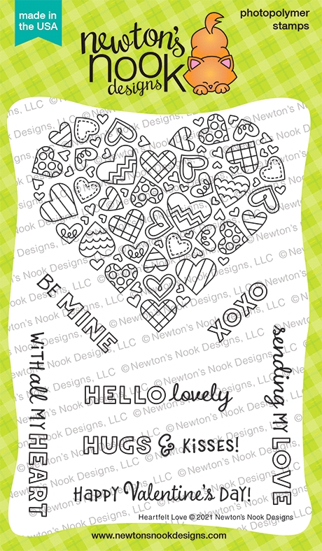 Newton's Nook Designs HEARTFELT LOVE Clear Stamps NN2101S05 zoom image