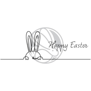 The Rabbit Hole Designs 1 LINE HAPPY EASTER Clear Stamps TRH 99