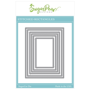 SugarPea Designs STITCHED RECTANGLES SugarCuts Dies spd00508