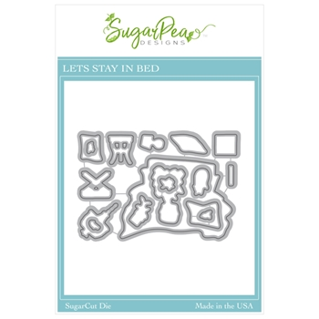 SugarPea Designs LET'S STAY IN BED SugarCuts Dies spd00507