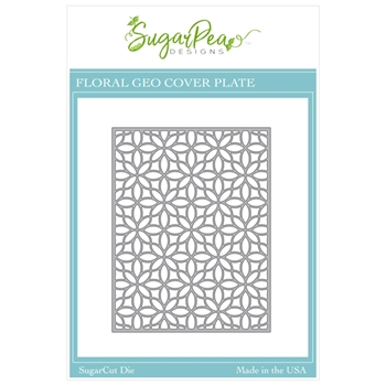 SugarPea Designs FLORAL GEO COVERPLATE SugarCuts Die spd00503